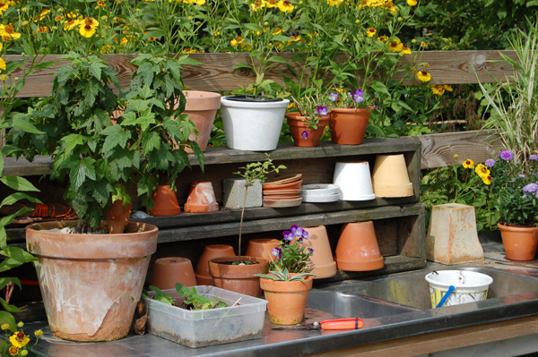Love tending plants? Try a potting bench