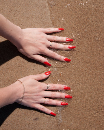 Manis and pedis are just right in red!