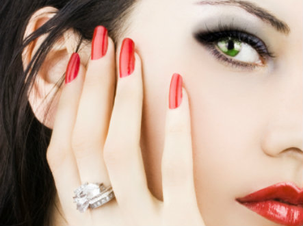 Perfect red manicure