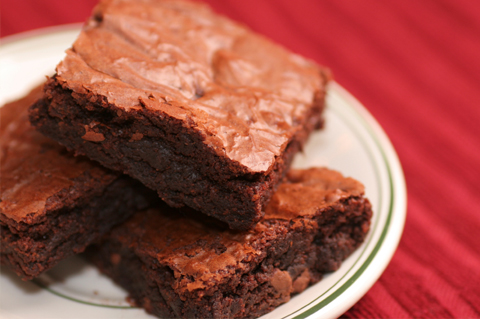Red Wine Brownies Recipe — Dishmaps