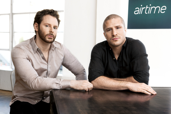Sean Parker and Shawn Fanning introduce Airtime