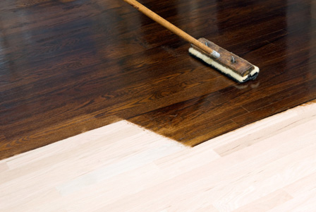 Staining hardwood floor