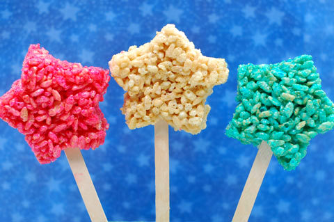 Star spangled rice krispie treats