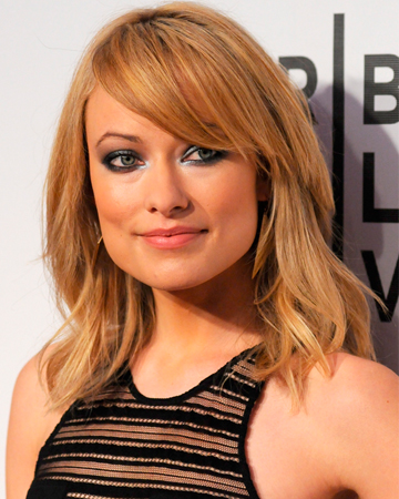 Olivia Wilde's side-swept bangs