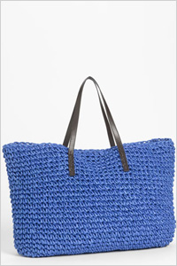 Tote: Under One Sky oversized straw tote