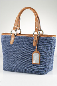 Tote: Lauren by Ralph Lauren Claridge straw tote bag