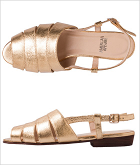 American Apparel Leather Cut-Out Sling Back Sandal, $90.00