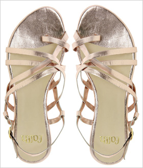 Faith Jude Metallic Flat Sandals, $41.43