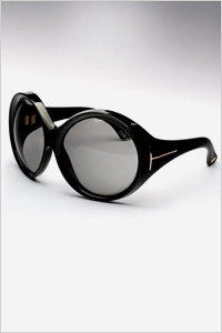 Sunglasses: Tom Ford round oversized sunglasses