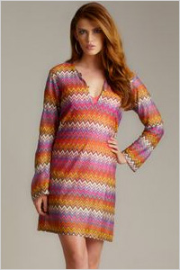 Cover-up: RAJ zig zag mesh tunic