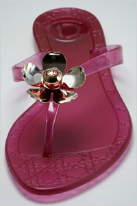 Sandals: Dior jelly blossom thong sandals