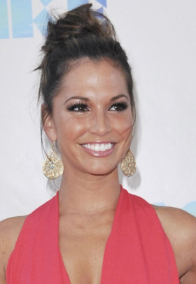 Melissa Rycroft with messy updo