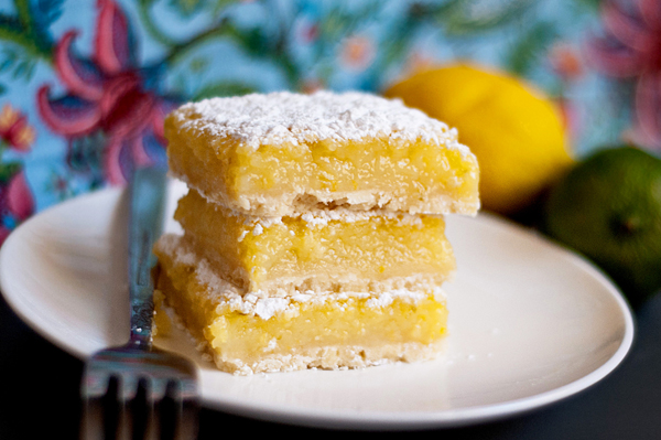 Summer citrus bars with fresh whipped cream recipe