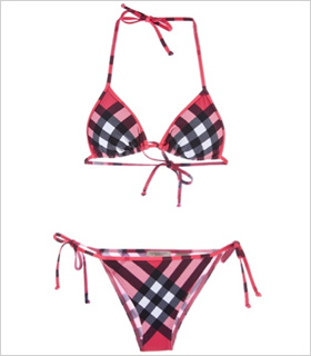 Burberry Brit Checked bikini, $189, farfetch.com