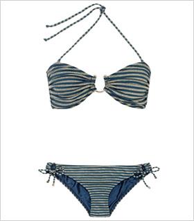 Reiss Albi Etched Trim bikini, $95, reissonline.com