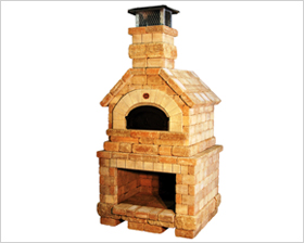 Batali's wood burning brick ovens