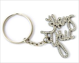 bedazzled keychain that reads: Hey Y'all