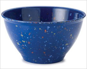 melamine garbage bowl with a rubber base