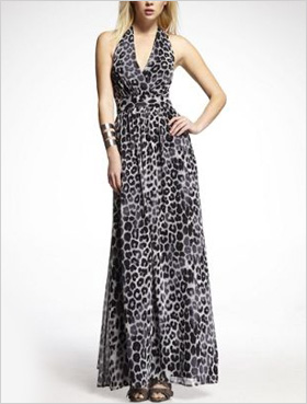 Chiffon Halter Maxi Dress by Express
