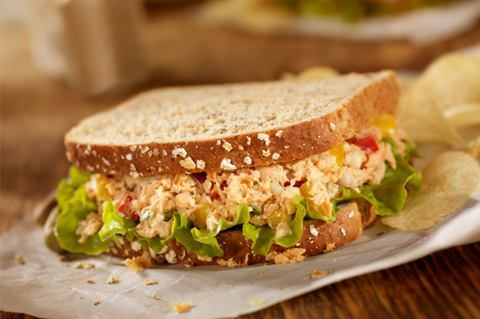 Whole wheat tuna sandwich makeover