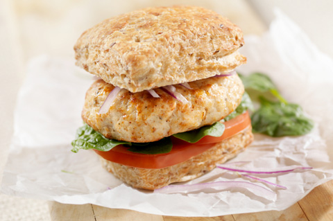 Turkey apple carrot burgers