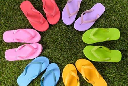 Variety of flip flops