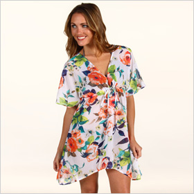 Tommy Bahama Beach Blossoms hi-low tunic