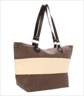 Magid striped tote