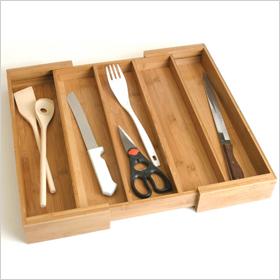 Expanding utensil drawer organizer