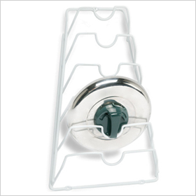 Door mount lid rack