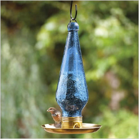 Seed Trumpet bird feeder