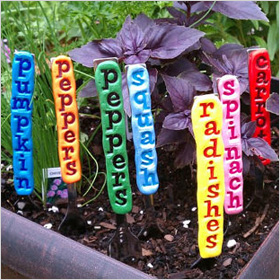 vegetable and herb garden stakes