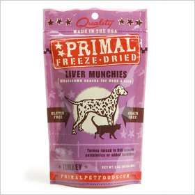 Primal Pet Foods Inc. Freeze Dried Turkey Liver Munchies