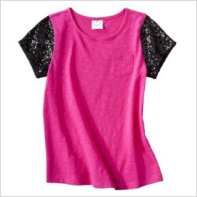 DSigned Girls' Short-Sleeved Pocket Tee