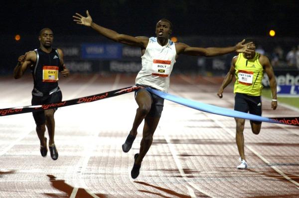 World's fastest man taking it slow