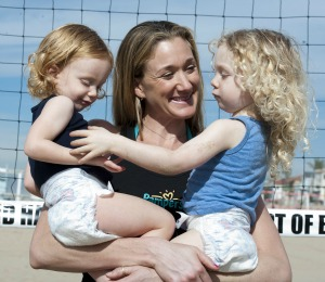 Kerri Walsh and her daughters