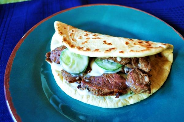 Grilled lamb goes Greek