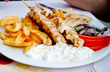 Foods in Rhodes, Greece