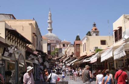 Shopping in Rhodes, Greece