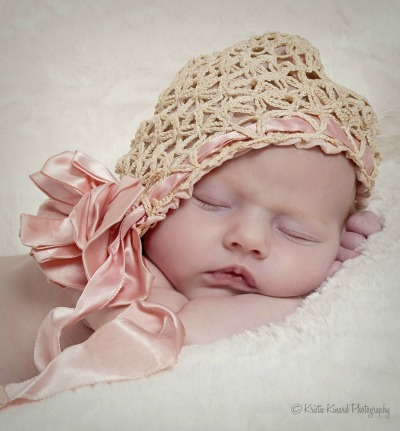 baby in heirloom hat