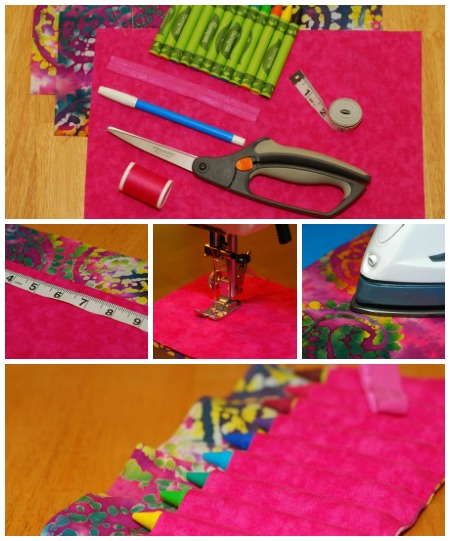 crayon roll collage