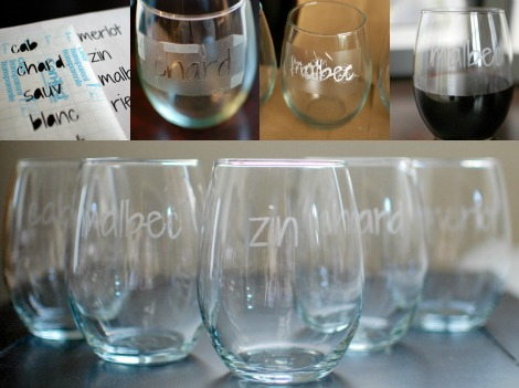 Wine glass collage