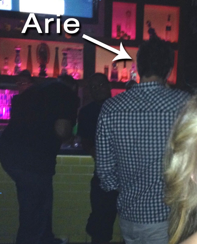 Bachelorette finalist Arie partying in Scottsdale