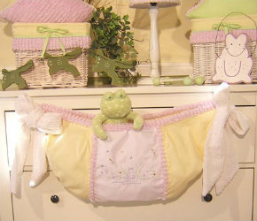 Brandee Danielle Froggy Lavender Toy Bag