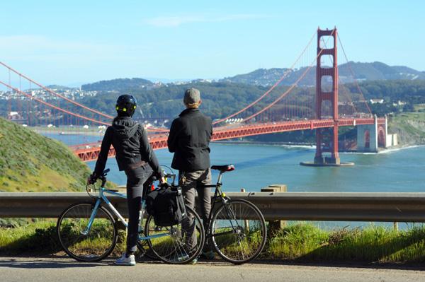 Bike ride across Golden Gate Bridge