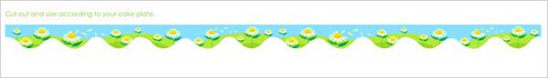 Daisy border pattern