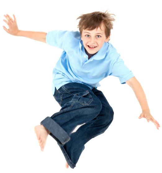 Boy wearing jeans