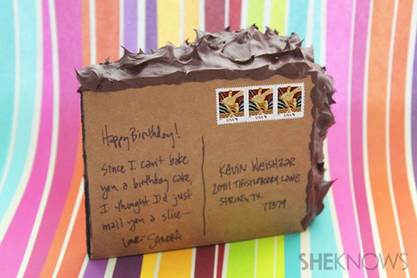 DIY cake postcard