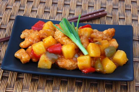 Sweet and sour chicken for a crowd