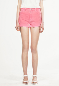 Christopher Kane for J Brand pink denim shorts